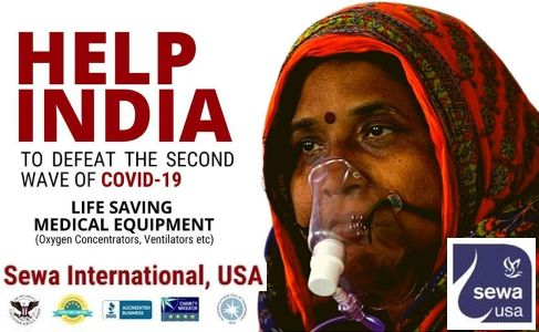 Sewa International - $6 million worth Medical Equipment to India - Covid 19 pandemic help